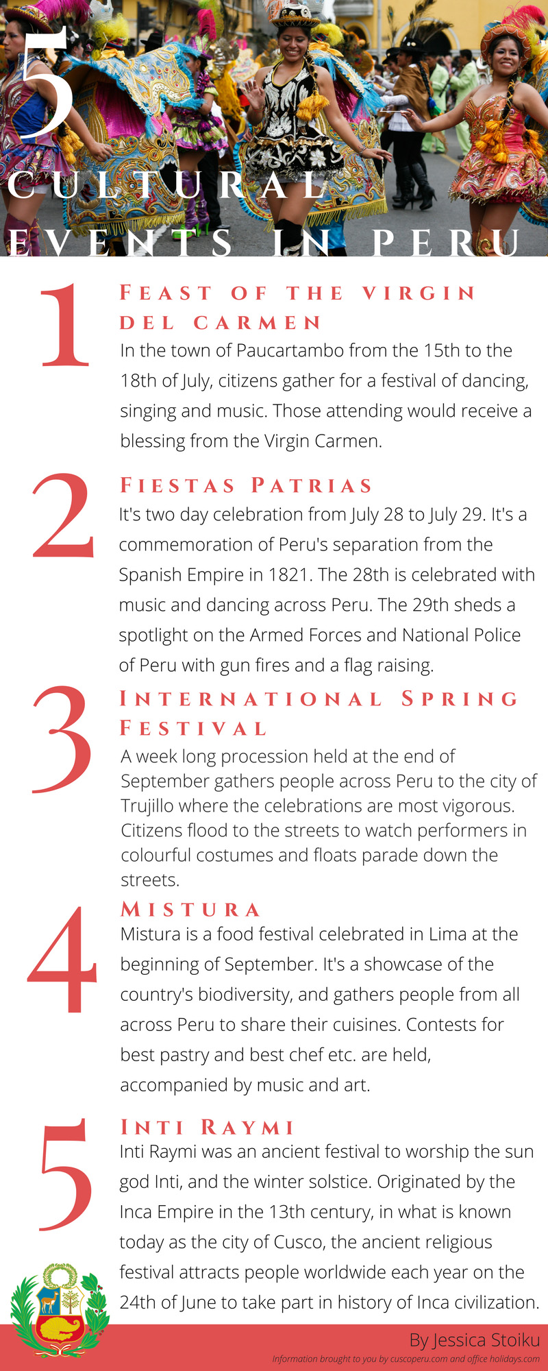 Here are five cultural events that take place in Peru - The Chronicle