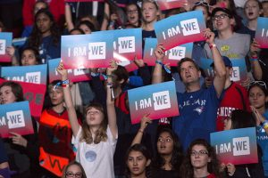Barbara Howe Thousands of students filled the ACC to be inspired at WE Day.
