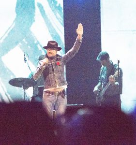 Barbara Howe Gord Downie of the Tragically Hip performs on the WE Day Stage.