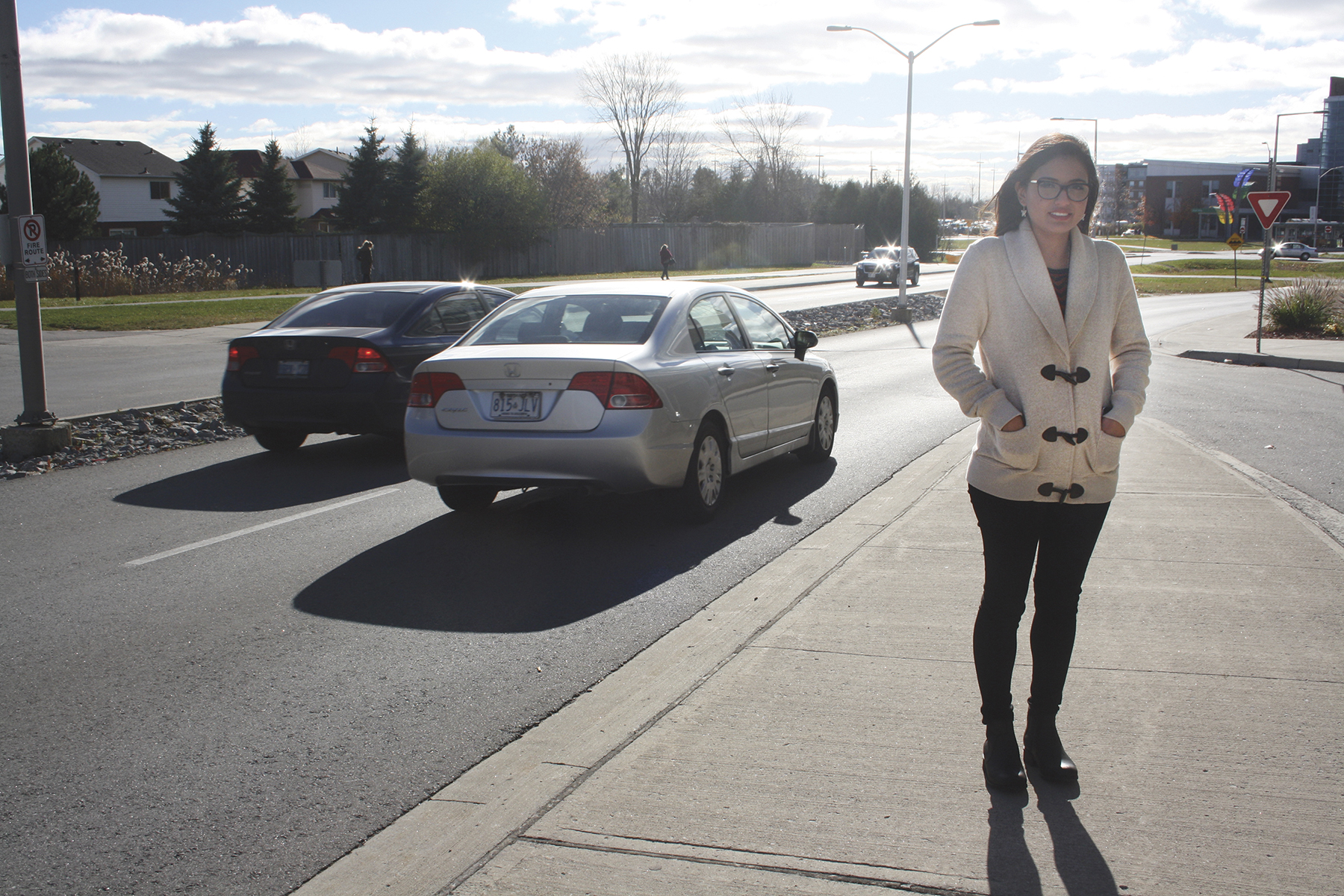 Claudia Cubas Quiroz says the biggest difference since moving from Peru to Whitby has been the flow of traffic.