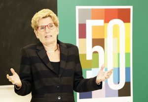 Premier Kathleen Wynne spoke to Early Childhood Education students about the importance of the work they are studying for and the new Ontario Student Grant.