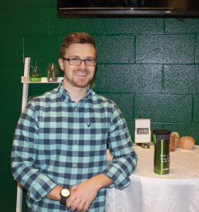 Eric Lacina, Environmental Technology student at Durham College, and member of the student Green Team