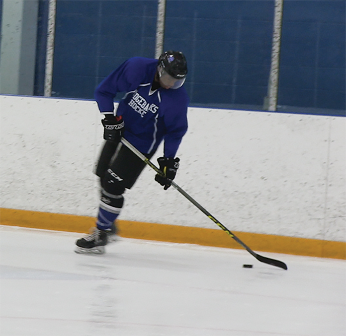 Photo by Kayano Waite Malik Johnson practicing in the Campus Ice Centre.