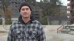 David Galloway says community is an important aspect to skating.