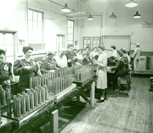 Shell filling operation photo courtesy of Ajax archives