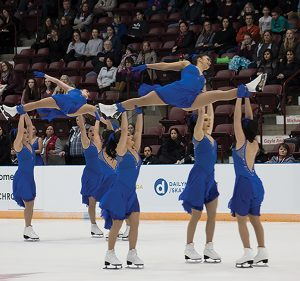 Photo by Shanelle Somers Les Supremes senior team at the Synchronized Skating Championships