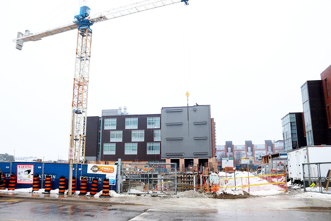 OSHAWA, Ont. – Ontario Tech building under construction at Founders Drive and Founders Gate will be completed by summer 2021.