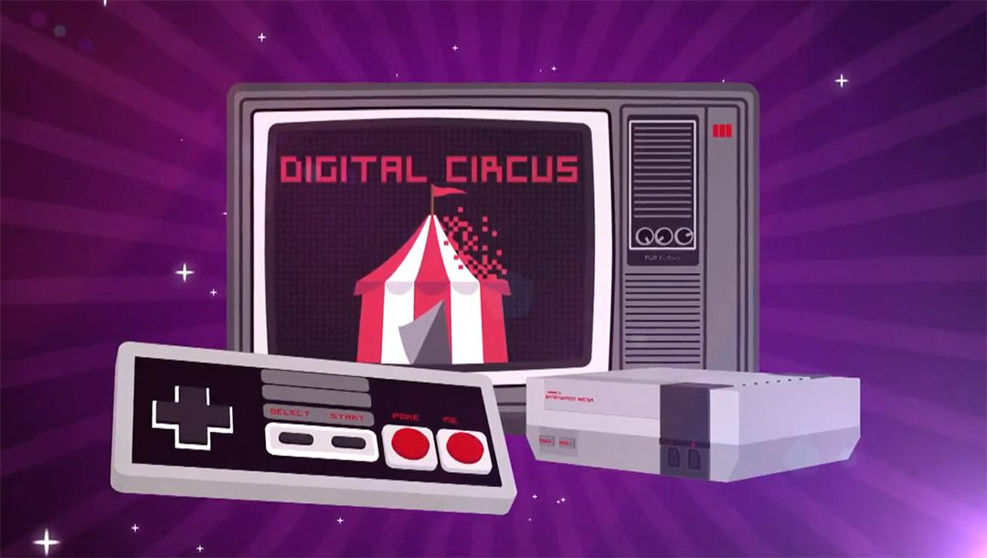 Digital Circus animated intro featured in every episode.