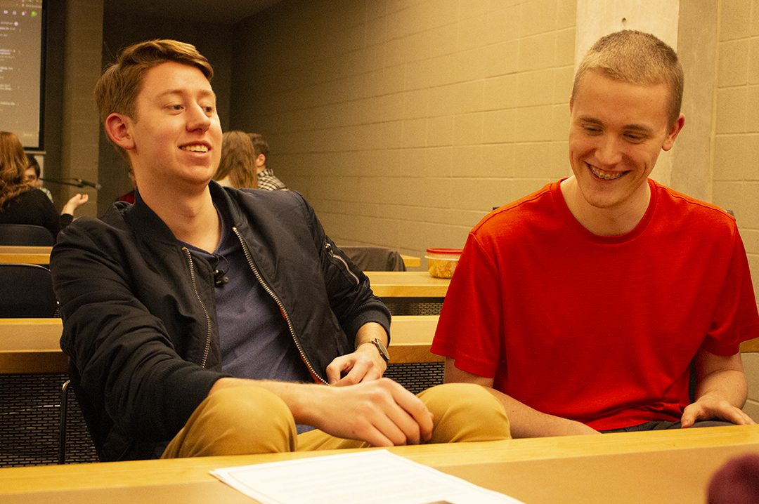 Students engage in discussion at Campus Church.