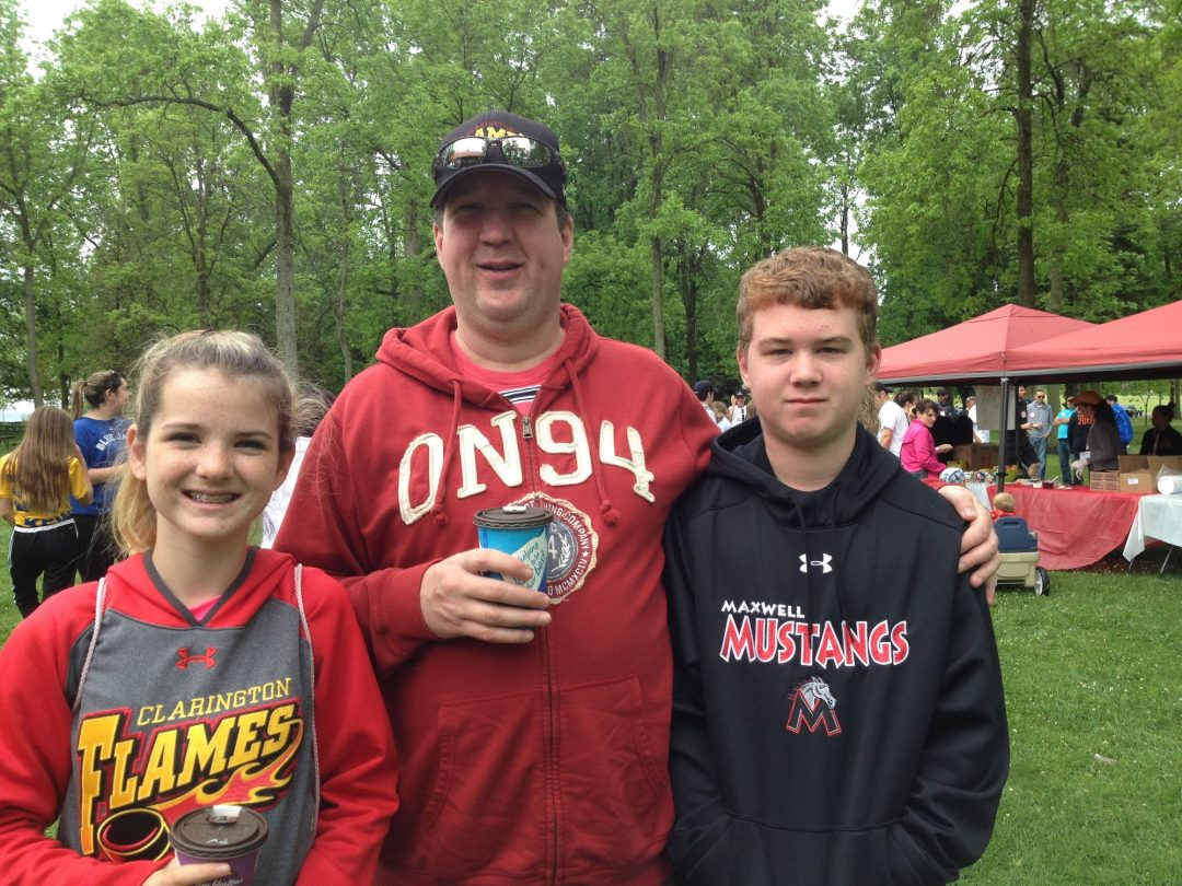 The Martin family partakes in the Gutsy Walk for Crohn's and Colitis Canada at Oshawa Lakeview Park in 2015.