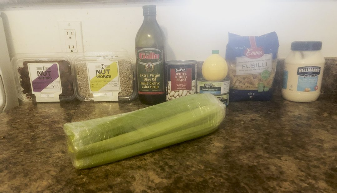 The majority of the ingredients you need are non-perishable or last a long time! The only fresh item required is celery.