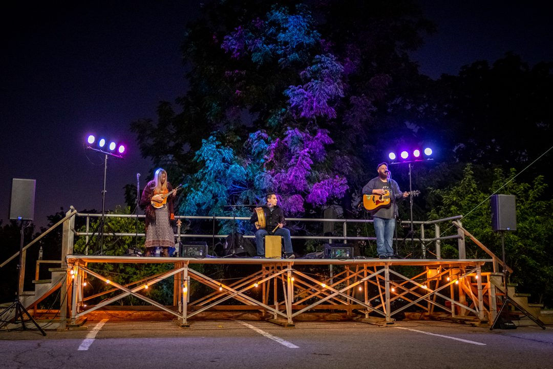 Robert McLaughlin Gallery's drive-in event. The Ugly Horse performing at RMG Fridays on Sept. 4, 2020.