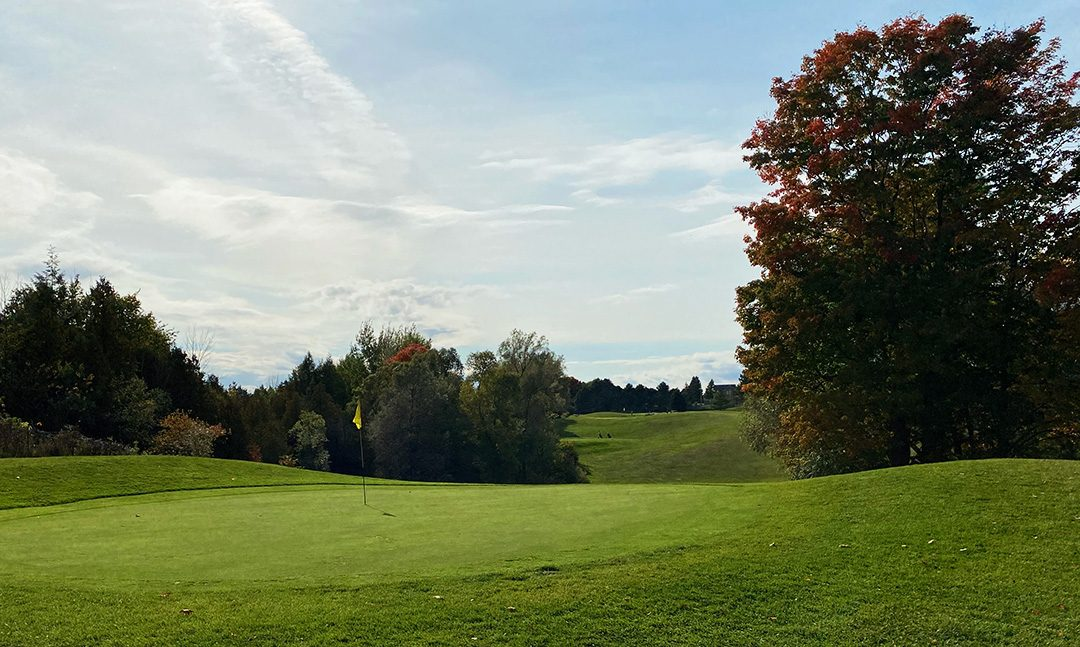 A view of one of the greens on a fall day Photo By: Julia Sandy