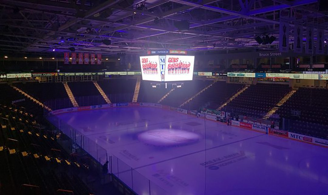 Tribute Communities Centre sits vacant. It's unclear if there will be fans in the stands this upcoming OHL season.