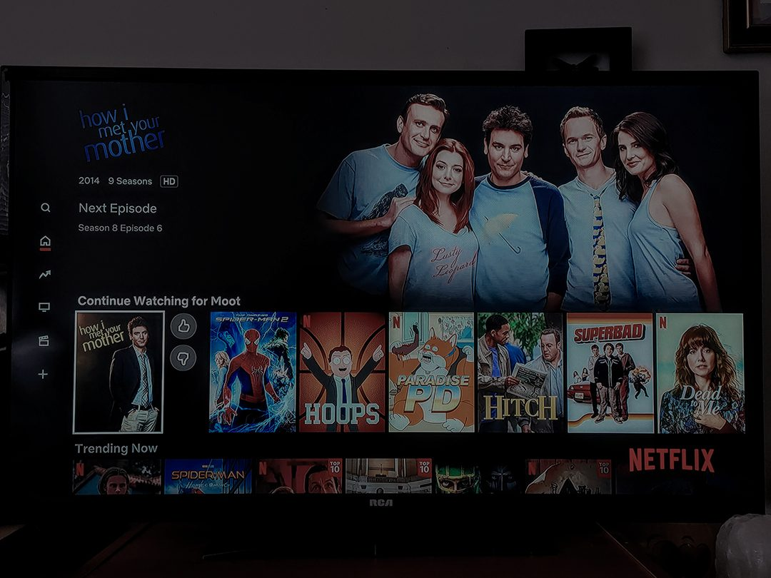 OSHAWA- A photo of the Netflix home screen focused on the series, 'How I met your mother.'