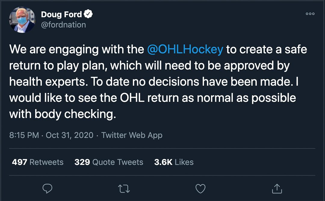 Premier Ford gave his stance on the issue after minister MacLeod made her statements.