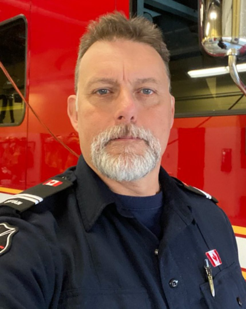 Glen Burton, 55, is one of the Pickering Ont. firefighter captians. He has been a captian for 20 years but has been a firefighter for 31 years.