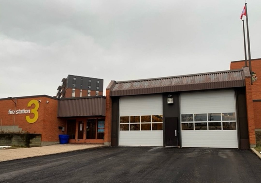 Firehall 3 in Oshawa, located at the intersection of Beatrice Street and Mary Street.