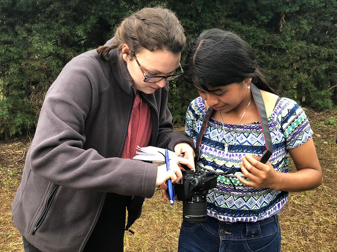 GUATEMALA- Meagan Secord and a young girl, Glenda, working together during Secord's stay in Guatemala.