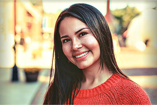 Valentina Suarez, who served as a translator on a project involving DC students and students in Guatemala.