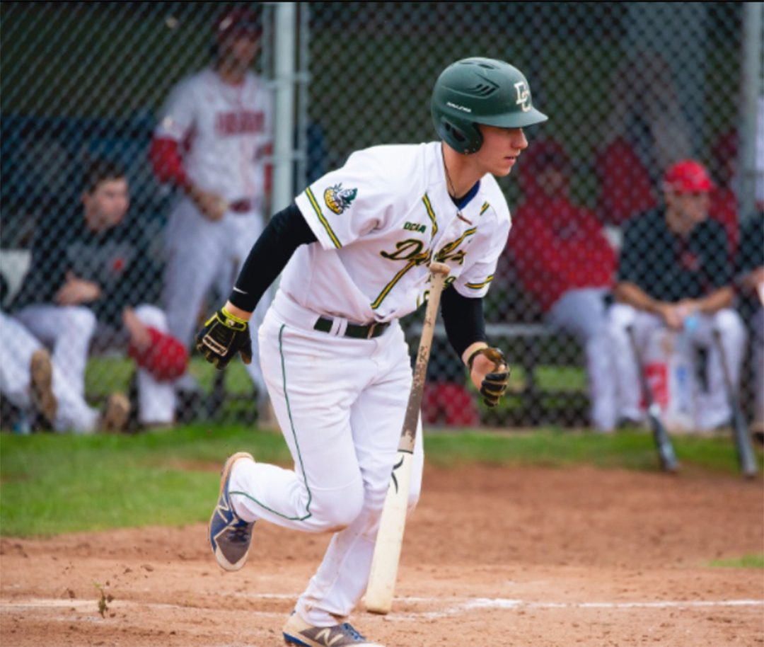 Griffin Oliver has played two full seasons with the Durham College men's baseball team.