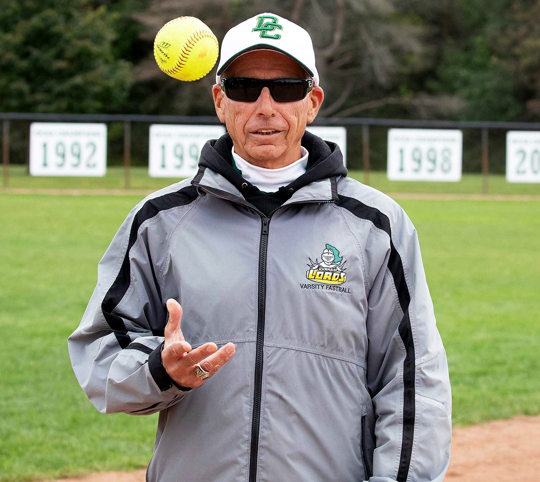 Jim Nemish coached the Durham Lords women's softball team for 30 years before resigning in October, 2020.