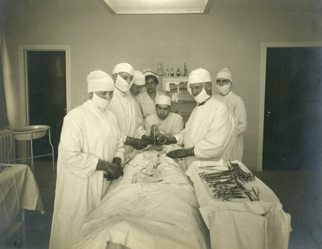 An operating room in the Oshawa General Hospital in 1940